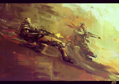 Fantasy Art Persian Knights