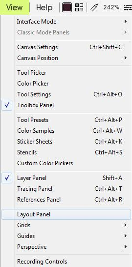 Edit menu screenshot guides ArtRage 5