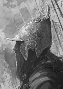 Greyscale sketch by Hassan Chenary