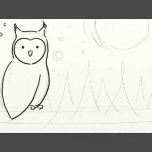 ArtRage Lite ink pen watercolour cartoon owl drawing tutorial