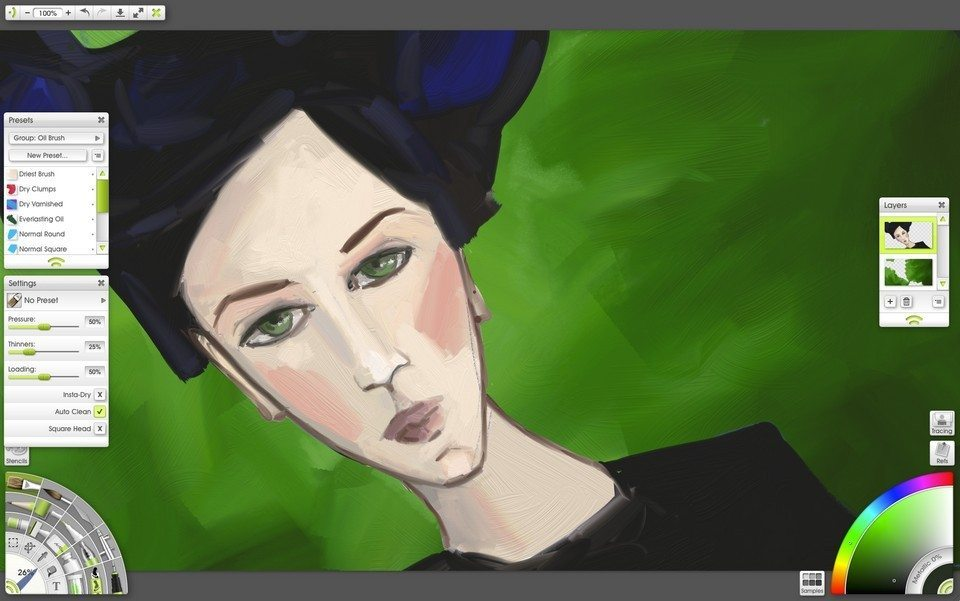 1ArtRage Lite oil painting face portrait tutorial