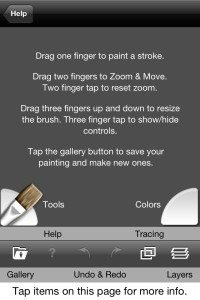 ArtRage comes with a quick reference guide and simple user instructions.