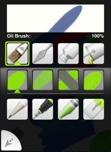 The Tool Picker gives quick access to Tools and variant Tool Types.