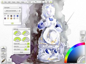 ArtRage Watercolors understand about the wetness of your paint and paper, so you can create natural blends and wet gradations on the canvas.