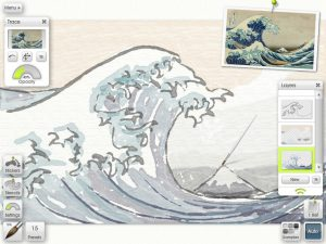 Tracing and Reference Images let you recreate your photos as paintings, or have your own go at the great masterpieces.