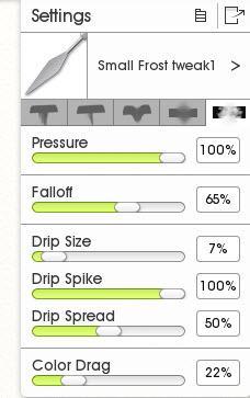 Palette Knife Settings in ArtRage 5