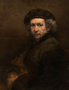 The original Rembrandt Self Portrait, painted in 1659.