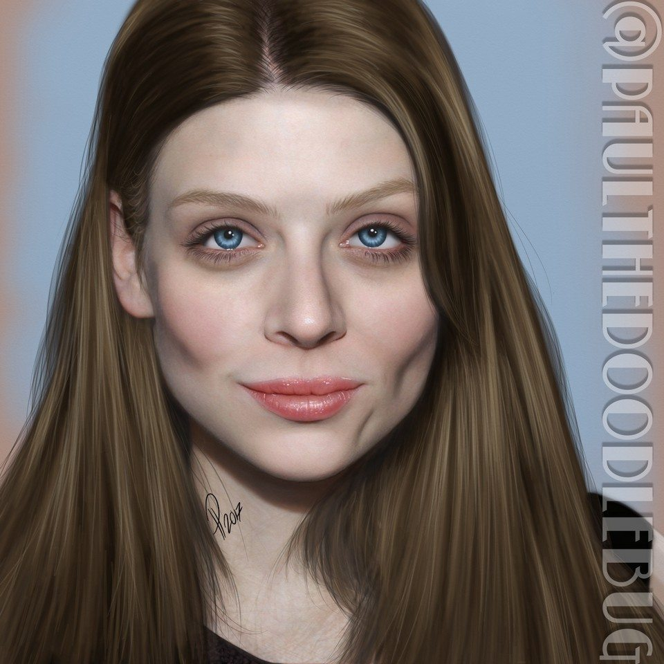 Amber Benson portrait tutorial by Paul Hinch-Worman