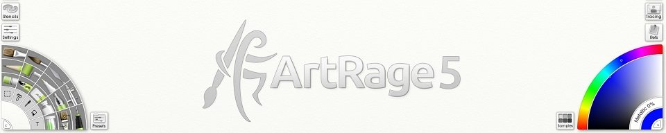 ArtRage 5 interface banner tool picker