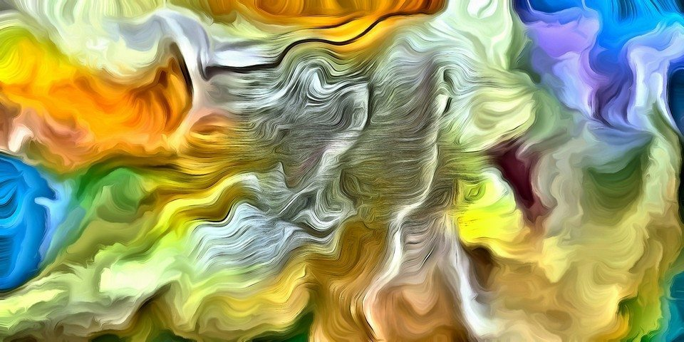 Swirling Color Abstract by Bruce Rolff