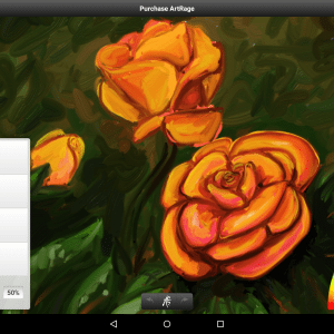 roses painted in artrage oil painter free
