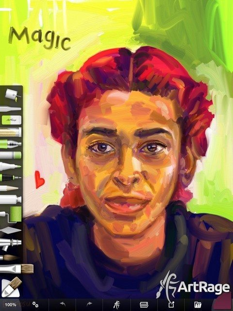 ArtRage for iPad 2.0. Painting by Edward Ofosu