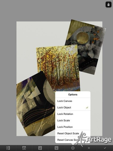 A speedy Transform feature and the ability to import images to layers or copy from the clipboard makes it easy to create composite images! (Art by Helene Goldberg)