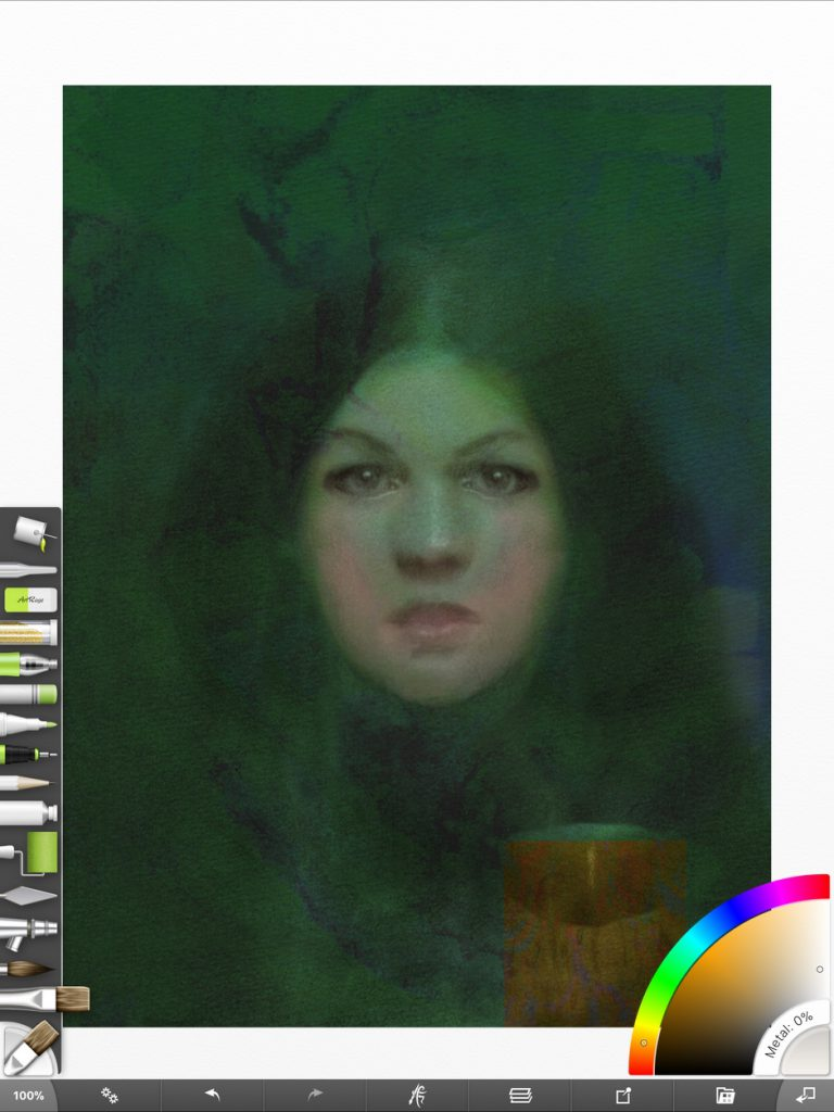 Final version of the Daughter of Salem portrait in ArtRage for iOS before printing