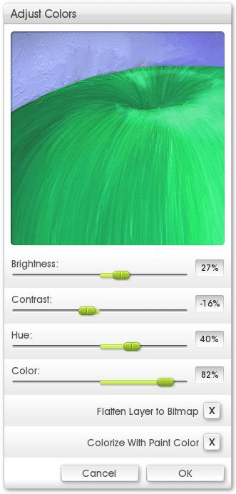 Adjust Layer Colors - ArtRage