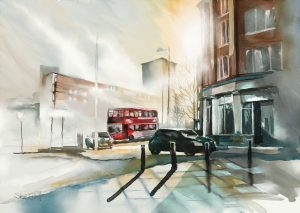 Birmingham Bus by Steve Elliott