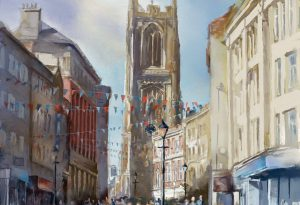 Derby Cathedral by Steve Elliott