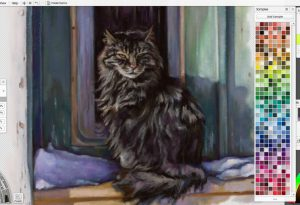 Pastel cat by Ramona MacDonald in ArtRage