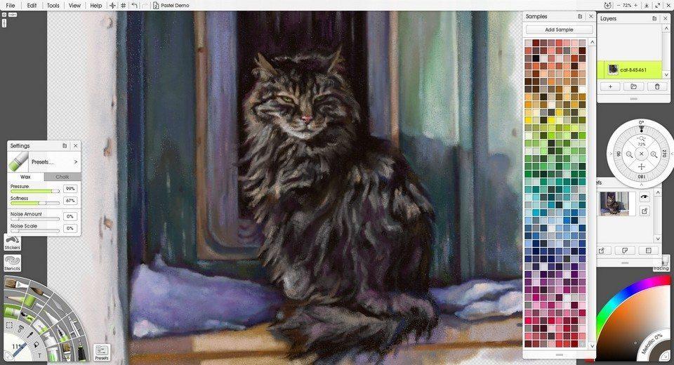 Artrage Window Pastel Demo1 ArtRage 5 Ramona MacDonald