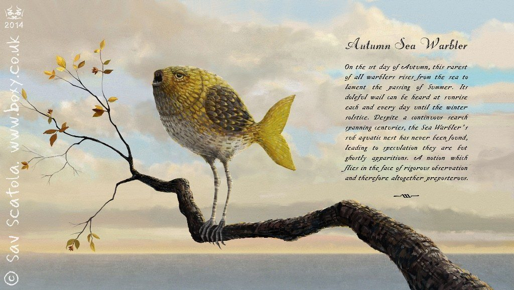 'Autumn Sea Warbler' by Sav Scatola