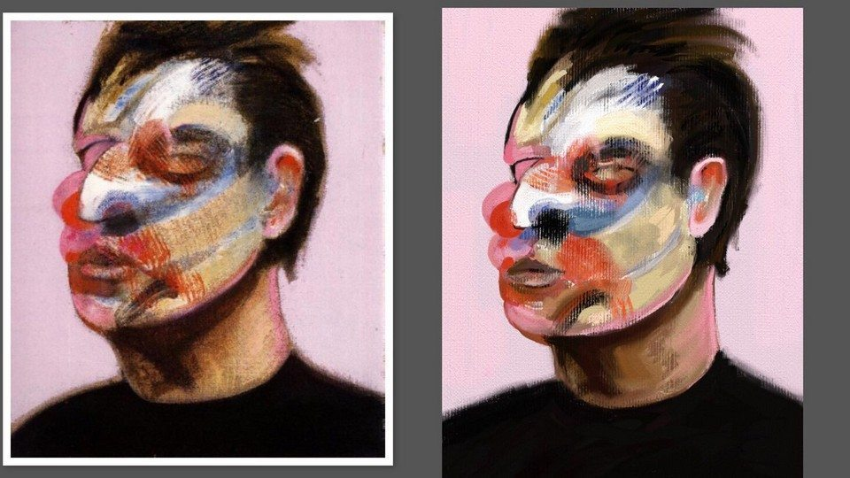 Bacon study by Alex Bearne ArtRage iPad art