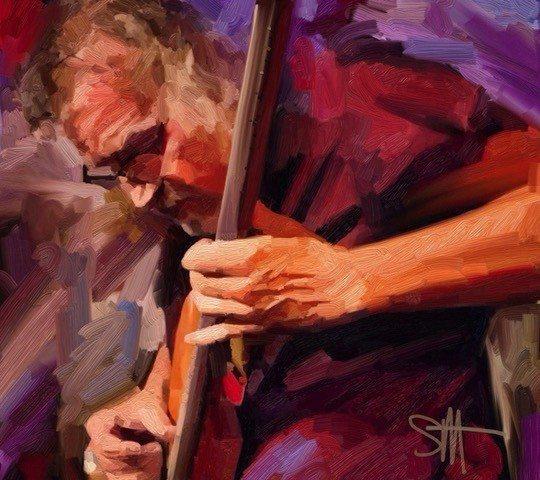 Bass Player 72 ArtRage iPad artist Dean Scott Waters