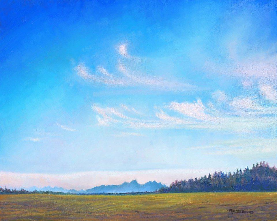 Big Sky artrage art by Ramona MacDonald