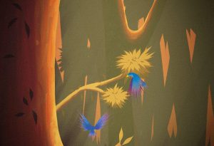 Bird Dance artrage art by Michael Clulee
