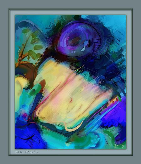 Blu Songs by Gary Hopkins ArtRage Artist