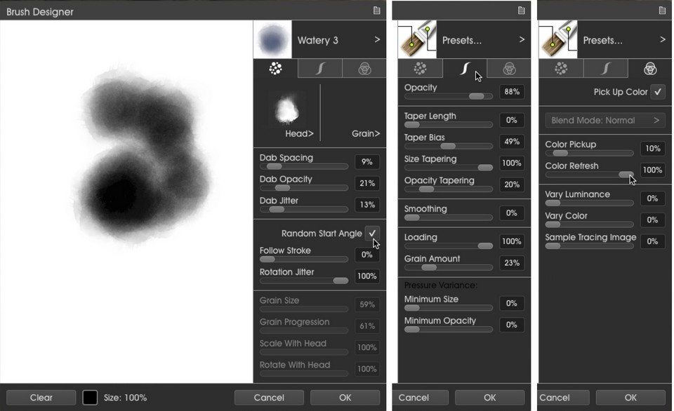 BrushDesigner3 metallic ArtRage 5 tutorial by Boxy Sav Scatola