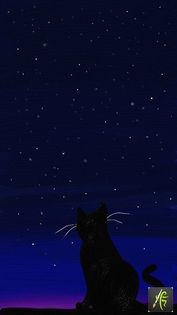 Cat and Stars ArtRage Oil Painter Free Art
