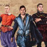 ChampionsDraw BT Sport Man City vs Barcelona ArtRage artist Phil Galloway