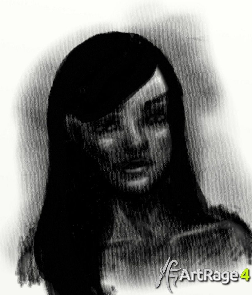 Charcoal ArtRage Tutorial Stage 3