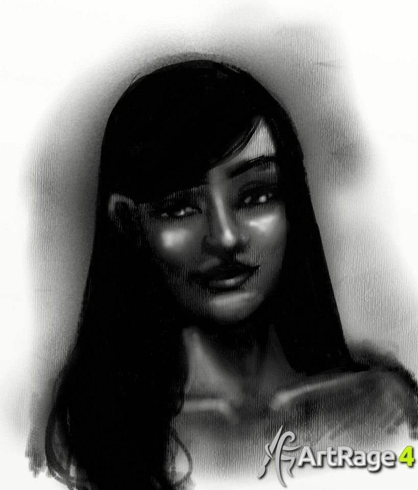 Charcoal ArtRage Tutorial Stage 5