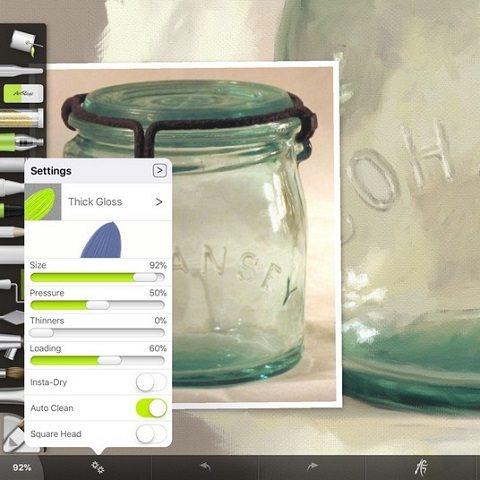 Cohansey Jar Oil Brush Settings by Shelly Hanna