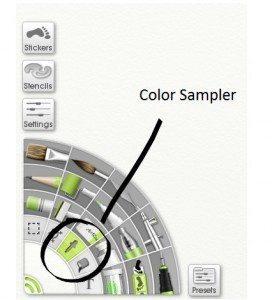 The Color Sampler tool. Alternatively, use Alt + Click