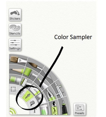 The Color Sampler tool