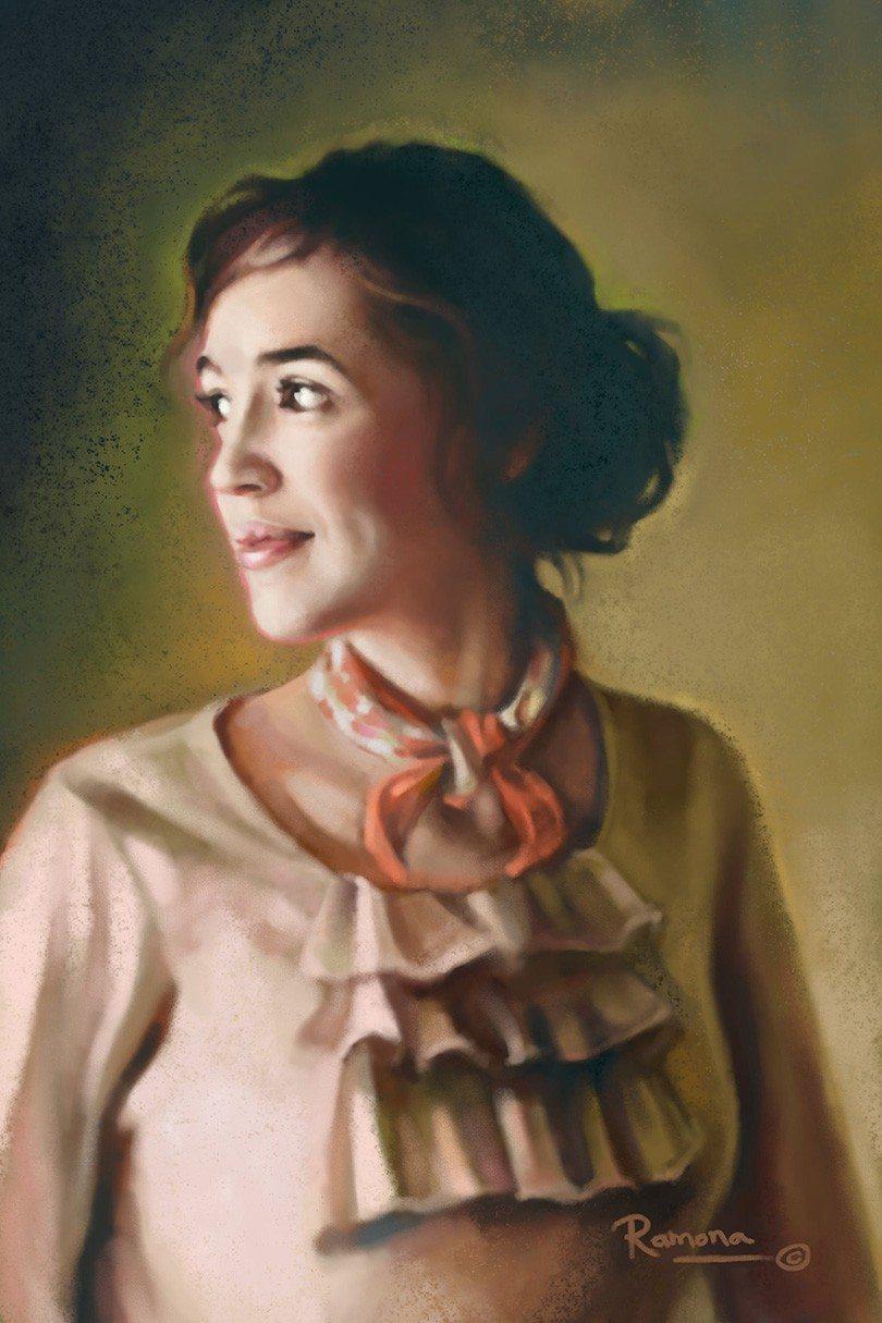 Evangeline artrage art by Ramona MacDonald
