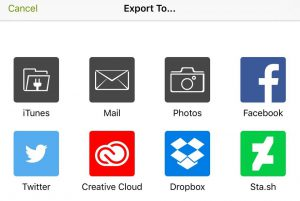 Export to email and other apps ArtRage for iPad 2.0