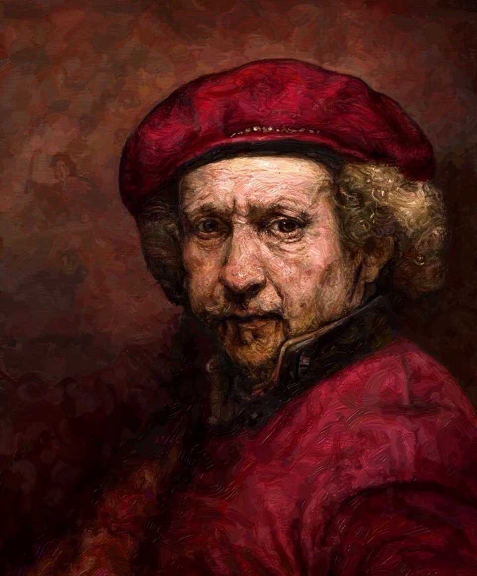 "Rembrandt van Rijn, ""Self-Portrait,"" by Edward Ofosu"