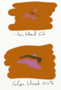 Figure 4 [Top] Color Bleed 0% [Bottom] Color Bleed 100%