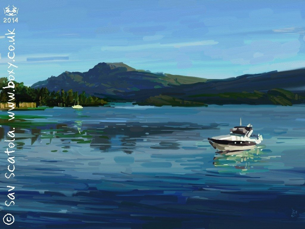 'First Light on Ben Lomond' by Sav Scatola