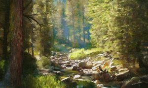Forest Creek-painting-small Dale Jackson Strato Art ArtRage Artist