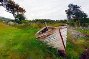 Galway Hooker 72 ArtRage iPad artist Dean Scott Waters