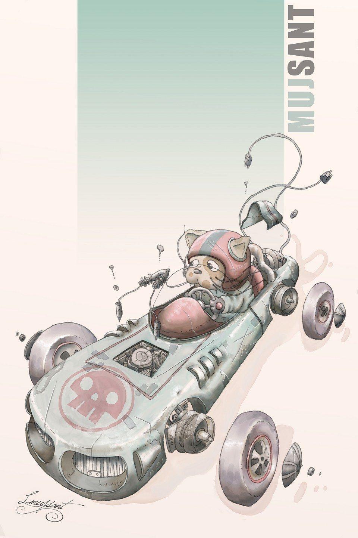 Gato de carreras by Luis Mujsant