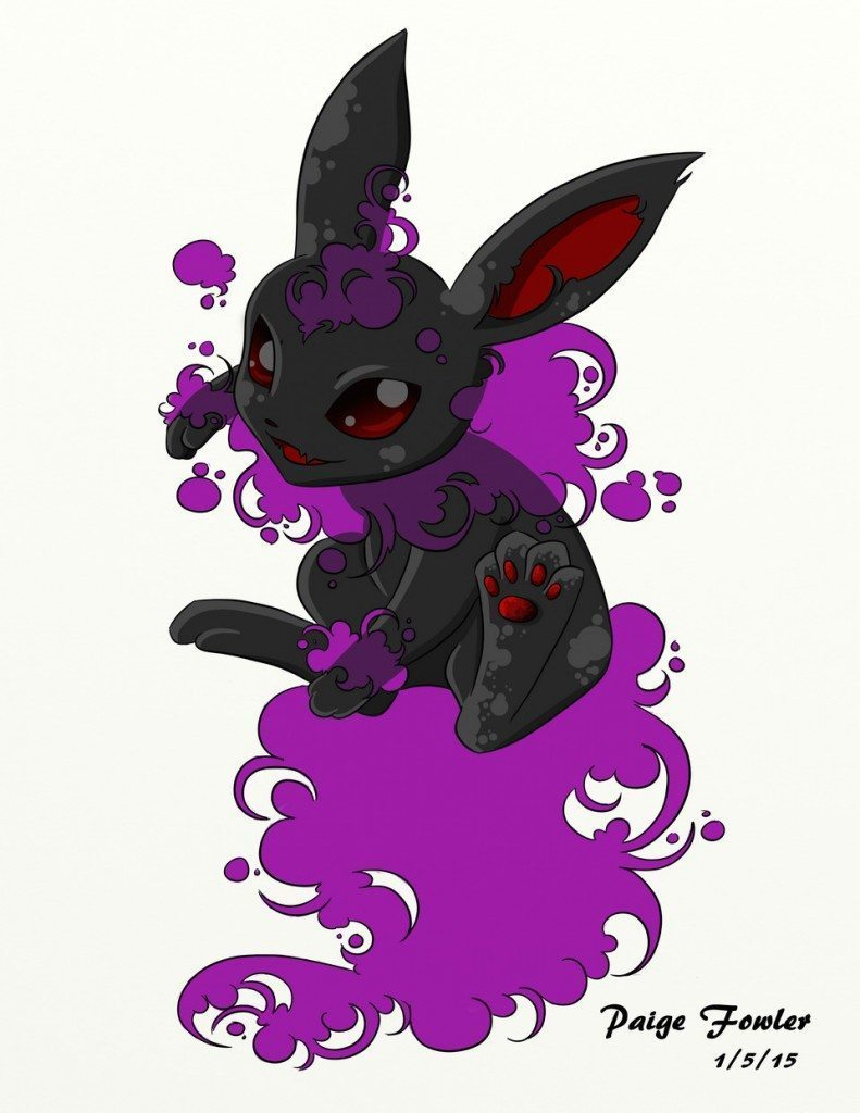 GhostType Eevee by Paige Fowler Sour Candy Arts