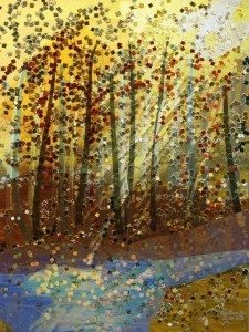 Glittery Trees by Helene Goldberg