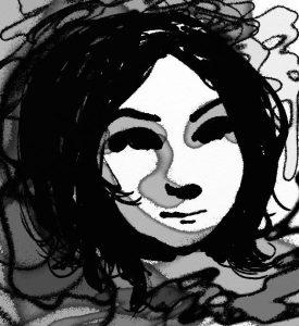 Gloop pen portrait sketch artrage 5
