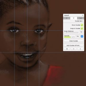 Guides African girl portrait square screenshot ArtRage 5