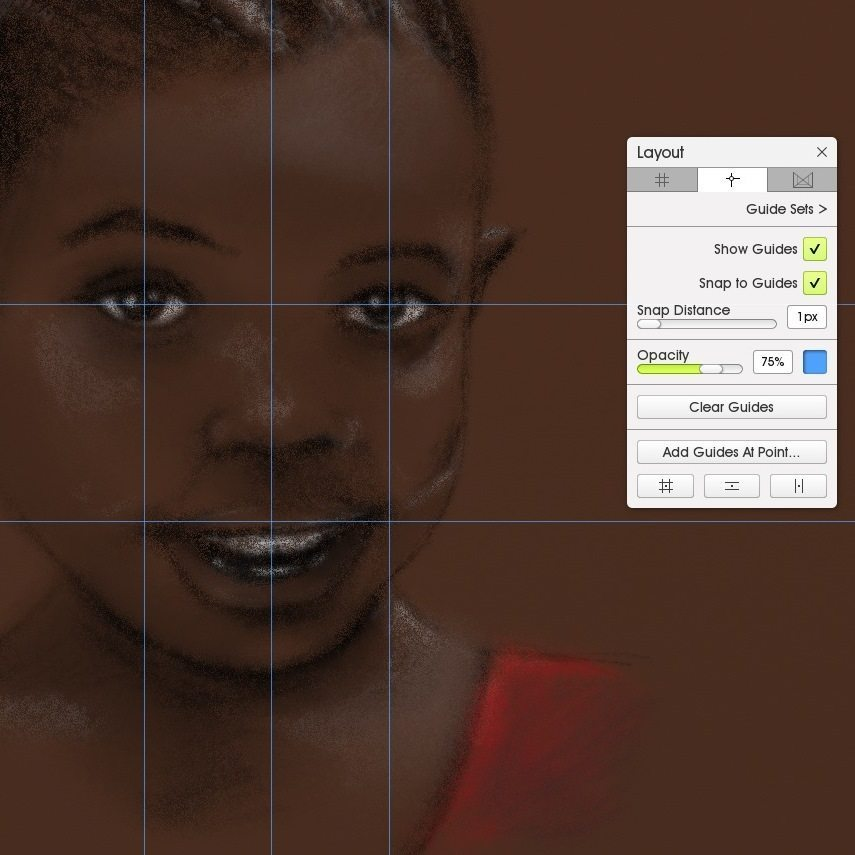 Guides African girl portrait square screenshot ArtRage 5
